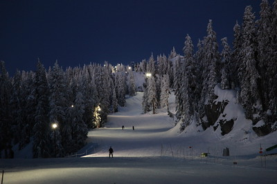 Night Skiing  Apparently people like skiing so much they'll even do it after dark. Colors unaltered from camera output, though this was one of several manual exposures; I liked the colors best in this one.