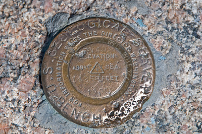USGS Survey marker on Mt. Evans, CO