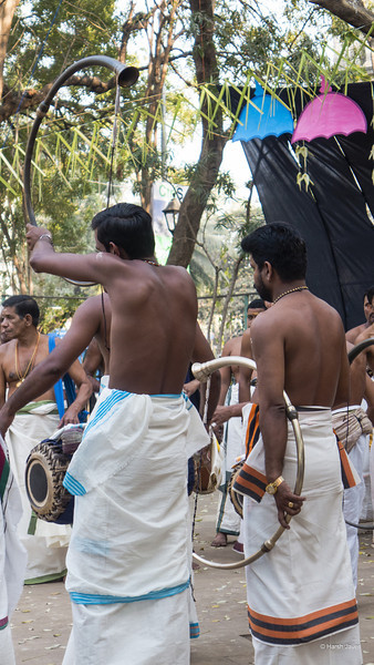 Panchavadyam, which is a traditional Kerala Temple art form. <br /> Horniman circle, Mumbai