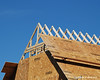 The top of the trusses with some paneling on them