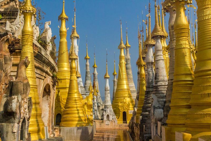 Shwe Indein Golden Pagodas