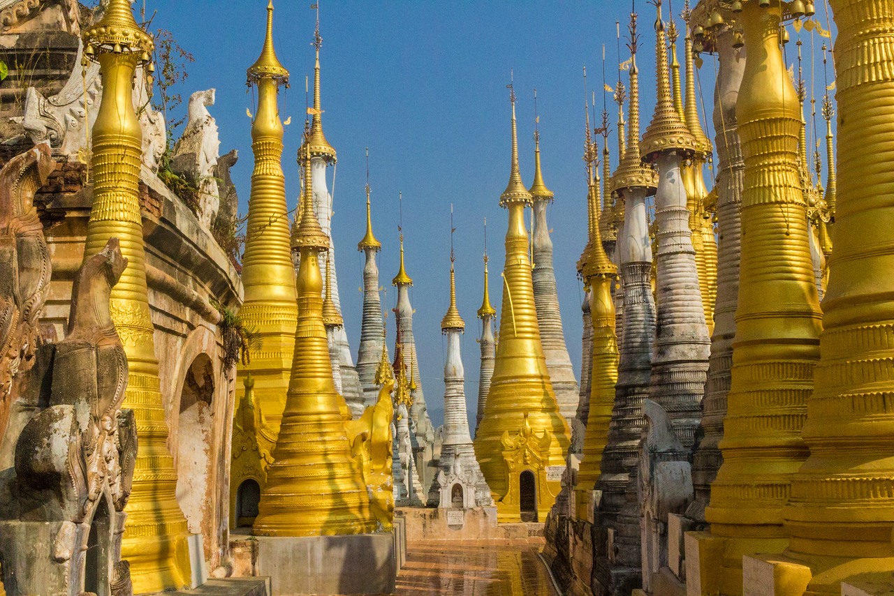 Shwe Indein Golden Pagodas
