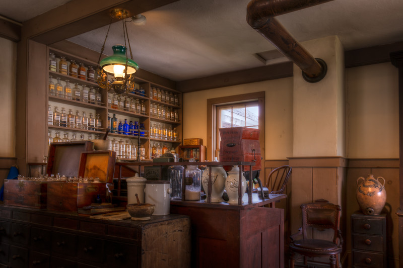 Pharmacy, Mystic Seaport, Connecticut