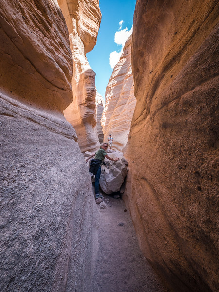 SLOT CANYONS AT TENT ROCKS