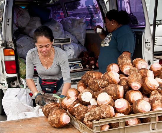 vendor in the city market in Auckland