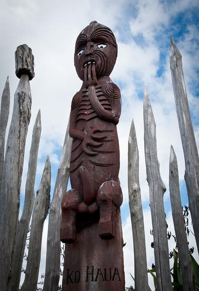 Maori carving, Hamilton Gardens
