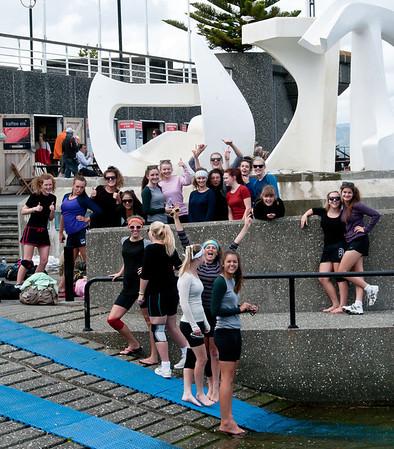 Girl's rowing team, Wellington, NZ