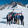 helicopter ride to top of Franz Josef Glacier