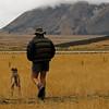 Richard and his sheep dog, Flock Hill Sheep Station, near Arthur's Pass