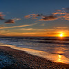 beach at sunset in Greymouth, NZ
