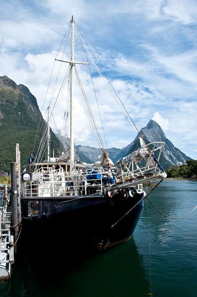 boat on Milford Sound