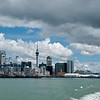 Auckland, New Zealand from the ferry to Waiheke Island