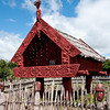 Maori native dwelling in Hamilton Gardens, New Zealand