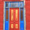 Colorful door in Reefton, New Zealand