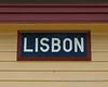 The Lisbon Train Depot Sign