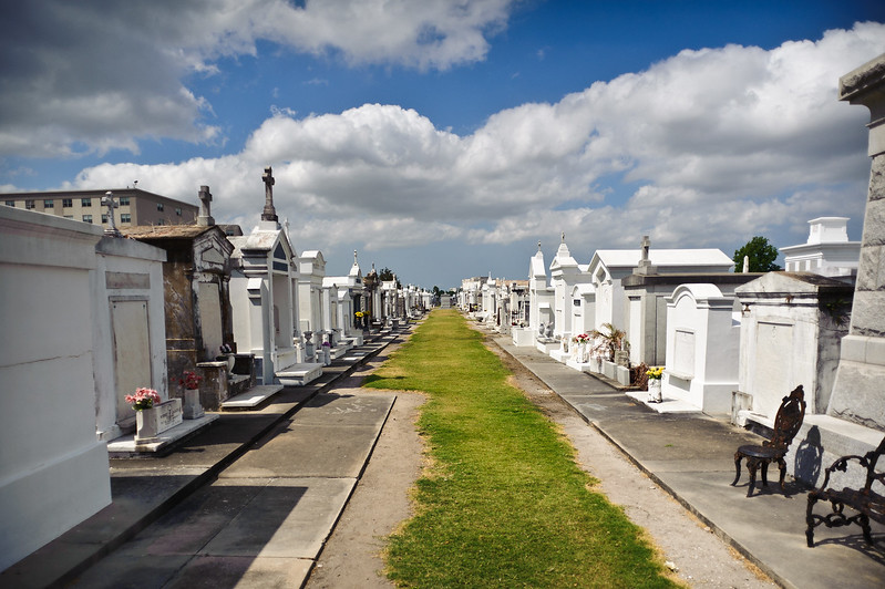 Views of a cemetary in New Orleans