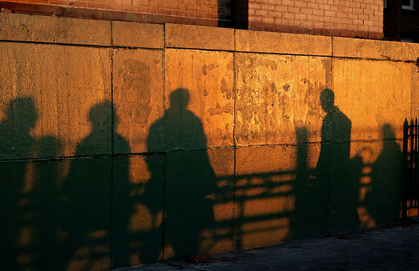 Strollers at sunset, Brooklyn Heights Promenade