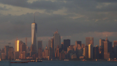 Manhattan sun glint