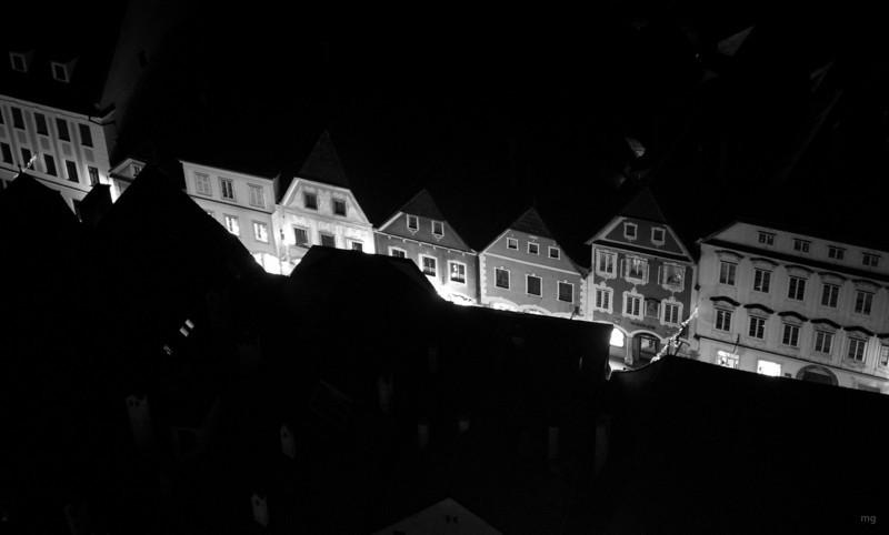Blick auf Häuser am Grünmarkt