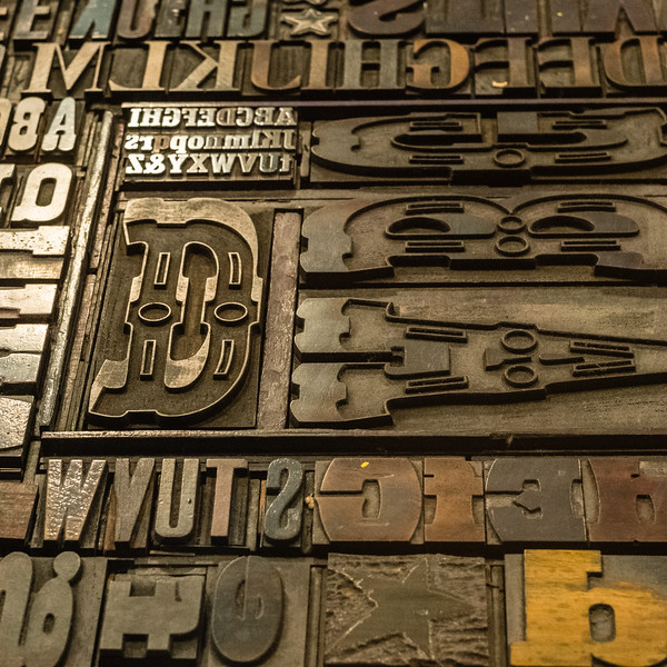 Metal type at Hatch Show Print in Nashville