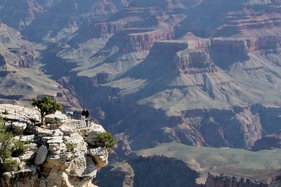View up Bright Angel Canyon; Grand Canyon, AZ
