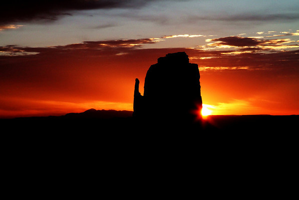 The East Mitten at Sunrise; Monument Valley, Utah