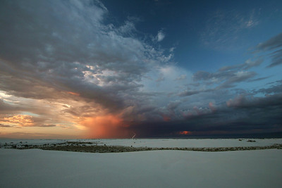 Lightning Strike and Summer Storm; White Sands, New Mexico