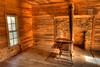 Interior room of Gregg-Cable house in Cades Cove
