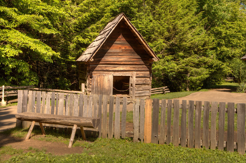 Building at Gregg-Cable house in Cades Cove