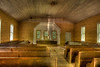 Interior of Methodist church in Cades Cove