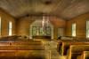 Interior of Methodist church in Cades Cove