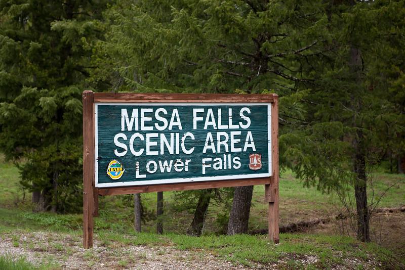 Mesa Falls - Targhee National Forest in Idaho