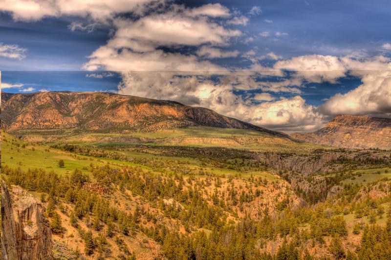 View along Chief Joseph Scenic Highway 12 - Wyoming