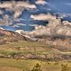 View along Chief Joseph Scenic Highway 6 - Wyoming
