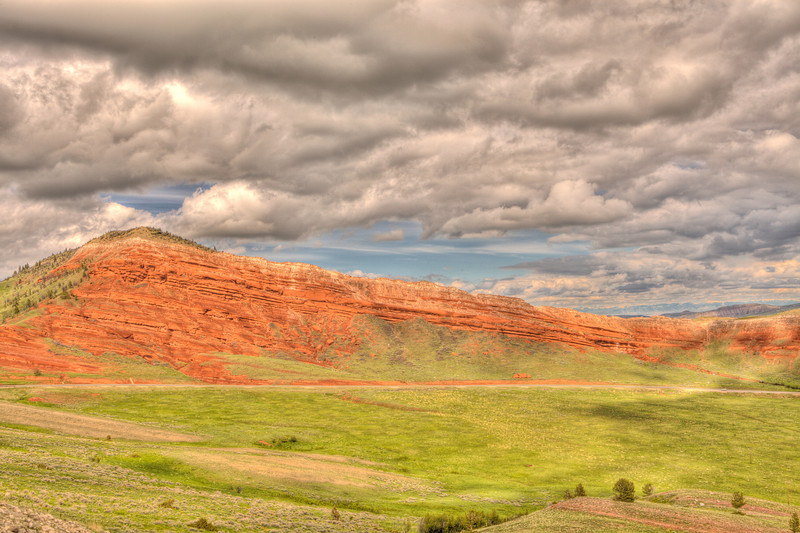 Rock formations along the Chief Joseph Scenic Highway 4 - Wyoming