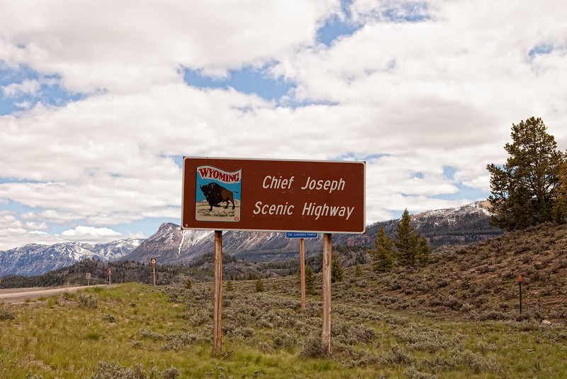 Entrance to the Chief Joseph Scenic Highway