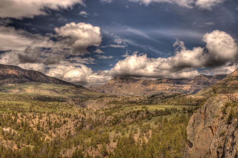 View along Chief Joseph Scenic Highway 7 - Wyoming