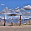 Entrance to Mammoth Horse Corrals