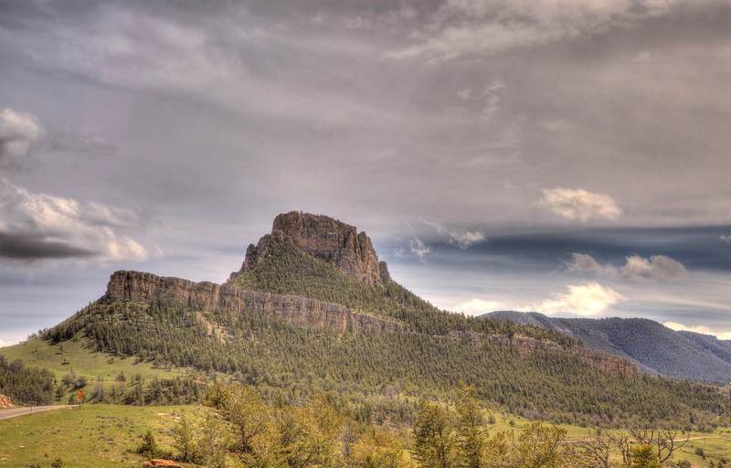 Rock formations along Chief Joseph Scenic Highway 2 - Wyoming
