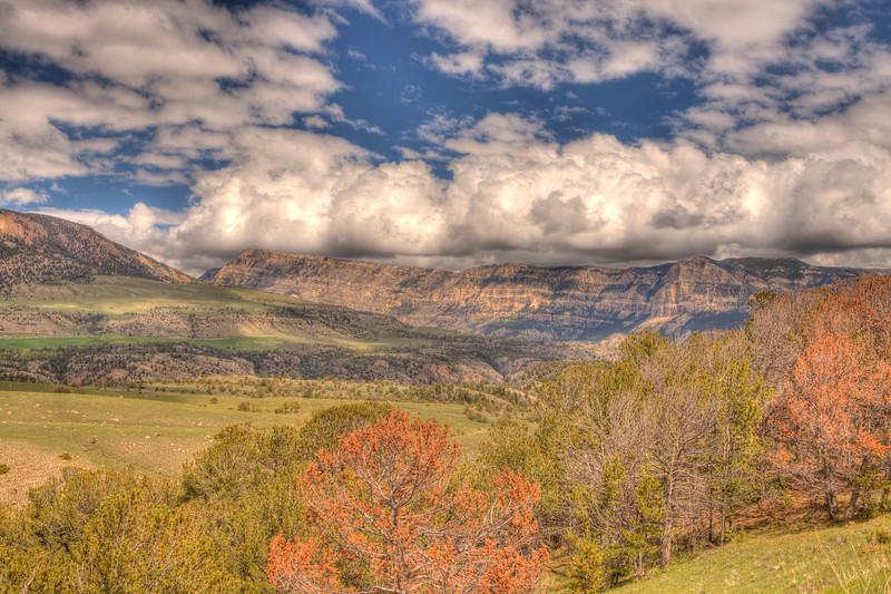 View along the Chief Joseph Scenic Highway 13 - Wyoming