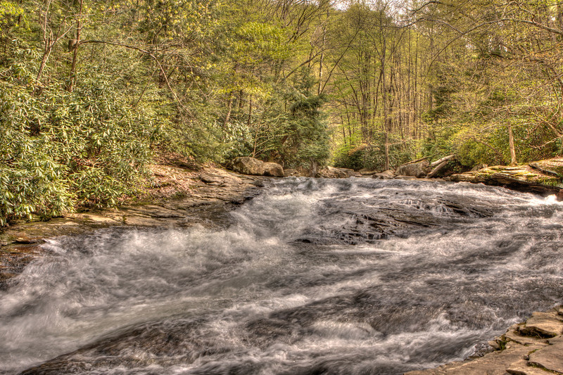 """The """"Slides"""" along Meadow Run in Ohiopyle State Park"""
