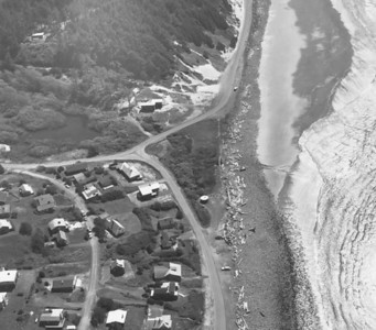 The Neahkahnie Tavern was located where Nehalem Road meets Ocean Road -- the triangle in the middle of this image. The building burned in 1956.