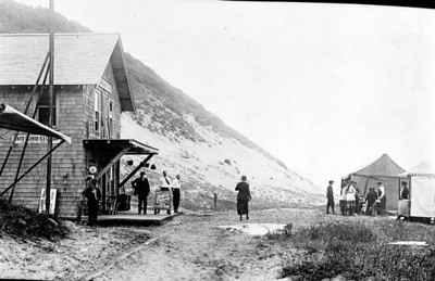 The Anderson store near the foot of Classic Ridge was also the end of the road. Until the late 1940s, Classic Ridge was a dune extending onto the beach.