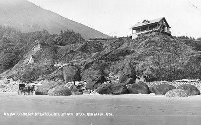 The level of sand on the beach was much lower before completion of the jetties at the end of Nehalem Bay. The U S Army Corps of Engineers finished the jetties in 1918.