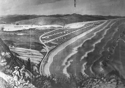 The new railroad would bring tourists to the Nehalem Bay area, where they could buy lots and build summer homes. Real estate fever began in 1909.