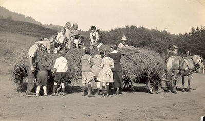 Summer days at the tavern often included hay rides.