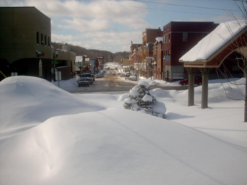 <b>Iron Street (winter)</b> - The same as the previous shot only the middle of winter. As of the date this photo was taken we'd had about 183 inches of snow so far for the season with a snowdepth right around 40 inches or so. Fairly average for that time of year. 3-2-05