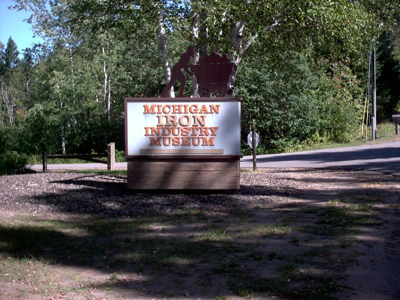 <b>Michigan Iron Industry Museum Entrance</b>