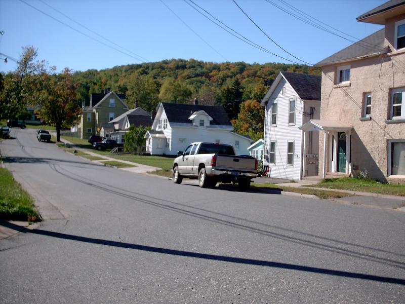 <b>Gold Street</b> - Typical street scene in south Negaunee.