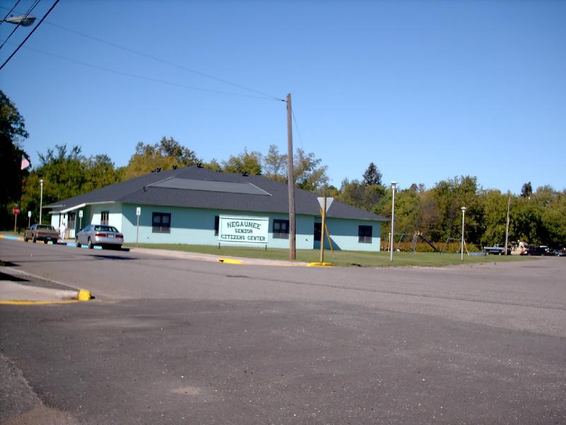<b>Negaunee Senior Center</b> - Downtown Negaunee, corner of Tobin and Jackson.